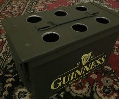 Drink Holder, Bottle Holders, Beer Caddy, Spray Paint Colors, Ammo Cans, Electrical Tape, Painted Sticks, Drill Press, Diy Solar