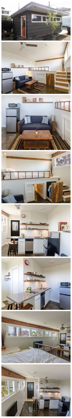 45 Ideas Room Decor For Couples Small Spaces Tiny House Tiny House Cabin, Tiny House Living, Tiny House Plans, Tiny House Design, Casas Containers, Tiny Spaces, Lofts, Little Houses, Future House