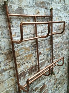 Handmade copper towel rail, this item is made from 15mm copper pipe. The size of this rail is height 70cm, width 60cm and depth of 15cm.    Any size can be made to order, please contact me to order a specific size and design.    Please note this item is not watertight, I have other items that are towel radiators and therefore have been soldered and water tested. Please contact me for details. | eBay!