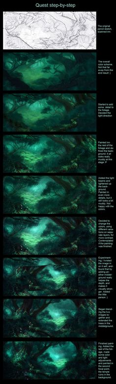 How To Paint Forest More Artworks And Tutorials: https://www.facebook.com/lapukacom  This artwork does not belong to me! I post it because I find if fascinating. Some of my original art can be found at http://lapuka.com
