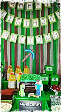 Minecraft party display