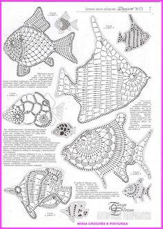 Filet Crochet, Art Au Crochet, Mandala Au Crochet, Crochet Fish, Crochet Amigurumi, Freeform Crochet, Crochet Diagram, Thread Crochet, Crochet Doilies