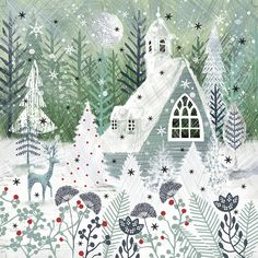 Leading Illustration & Publishing Agency based in London, New York & Marbella. Illustration Noel, Winter Illustration, Christmas Illustration, Christmas Scenes, Christmas Art, Christmas Background, Christmas Wallpaper, Winter Pictures, Winter Art