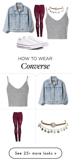 """Eva"" by bambi2014 on Polyvore featuring Glamorous, Converse, Gap and Wet Seal"