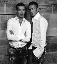 Dean and Dan Caten- Dsquared  Shop Women : http://www.fashionista-outlet.com/women/designer/d-squared.html    Shop Men: http://www.fashionista-outlet.com/men/designer/d-squared.html