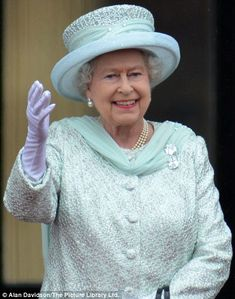 The Queen on the Balcony at Buckingham Palace following the Service of Thanksgiving