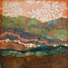 Abstract Landscape Torn Paper Collage by TheExpressivePalette, $40.00