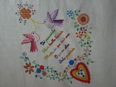 tablecloth-detail -embroidery inspired on lenços de namorados (Portugal)