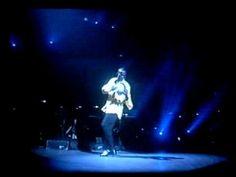 Bobby Brown dancing as Whitney Houston sings Mr. Bojangles in tribute to Sammy Davis Jr.