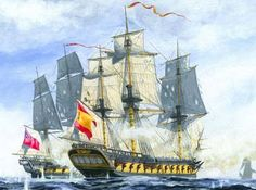 19 December off Cartagena in the Western Mediterranean, Nelson, then commodore in the Mediterranean Squadron under Sir John Jervis, fought a tumultuous frigate action against the Spanish in a prelude to the Battle of St Vincent.