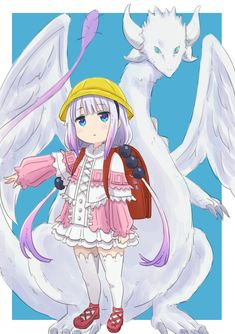 Kanna Kamui (Miss Kobayashi's Dragon Maid) Anime Chibi, Kawaii Anime, Lolis Anime, Art Anime, Photo Kawaii, Demon Manga, Film Animation Japonais, Girls Manga, Otaku