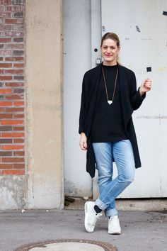 Streetstyle mit Strickcardigan, Levi's 501 und Nike Air - gooseberry pictures