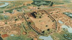 Cahokia  Long before Europeans made it to North America, the so-called Mississippians had build a great city surrounded by huge earthen pyramids and a Stonehenge-like structure made of wood to track the movements of the stars. Called Cahokia today, you can still see its remains in Illinois.