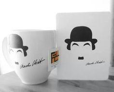 Chaplin / Fa-Diseño y Creaciones #Tazas #Mugs #CharlesChaplin #Chaplin #Cine #Movie