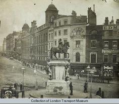 The Strand, Northumberland House Victorian Life, Victorian London, Vintage London, Old London, London Pictures, London Photos, Old Pictures, Old Photos, London History
