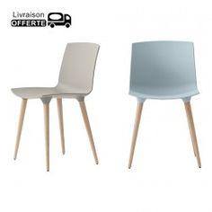 """Chaise empilable """"MADY"""" blanche lot de 4 Décoration"""