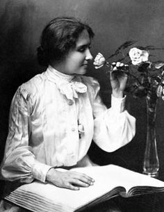 Helen Adams Keller was an American author, political activist, and lecturer. She was the first deafblind person to earn a bachelor of arts degree. A very wise and strong lady, I so very much admire her. <3