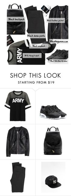 """""""Outfit of the night (listening to BTS's Cypher Pt.3 on repeat)"""" by the92liner ❤ liked on Polyvore featuring NIKE, H&M, rag & bone, Paige Denim, women's clothing, women, female, woman, misses and juniors"""