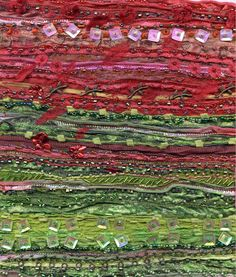 Rosie stitch, recycled sari silk