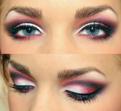 Good evening makeup for blue eyes