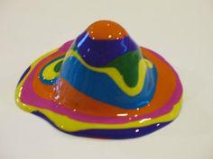 Gummy Lump Toys Blog: Rainbow Volcano: Spring Kids Crafts Project #59