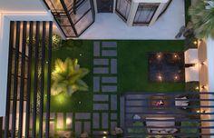 Modern Classic House Design 4 - Simple pergola composed of wooden slats provide shade for Modern Exterior House Designs, Classic House Exterior, Classic House Design, Dream House Exterior, Modern House Design, Exterior Design, Modern Pergola Designs, Modern Landscape Design, Modern Backyard