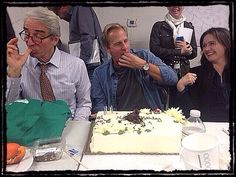 """Jeff: """"At NEWSROOM, a Birthday Cake does not require a knife."""""""