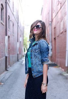 Denim jackets are the perfect fall into fashion transition!