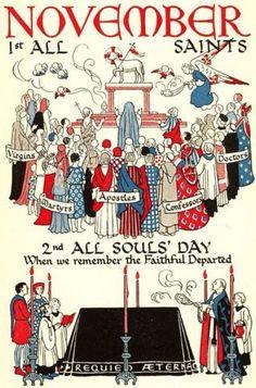 Bonne fête de la Toussaint (Di - Home Decora La Maison Catholic Feast Days, Catholic Prayers, Catholic Art, Catholic Saints, Roman Catholic, Catholic Beliefs, Catholic News, Catholic Books, Saints Days