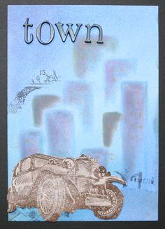 Have fun with PanPastel & katzelkraft - Town sketched - gestaltet von Daniela Rogall