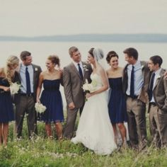A collection of adorable navy bridesmaids dresses for every budget! (image by Amy Carroll)