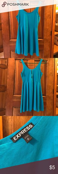 Express casual summer dress Super easy to wear summer dress. Turquoise color. My daughter wore it with flip flops or keds Express Dresses