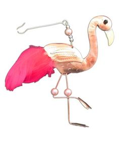 Loving this Frankie Flamingo Ornament on #zulily! #zulilyfinds Flamingo Ornament, Tropical Christmas, Copper, Brass, Handmade Ornaments, Source Of Inspiration, Plastic, Animal, Life