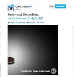 Here is how #Oreo took advantage of the blackout during this year's Super Bowl. #SocialMedia #Marketing