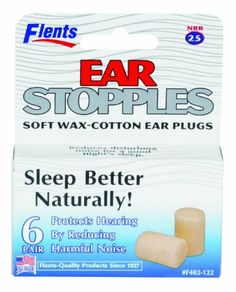 Flents By Apothecary Products, Inc. Flents Ear Stopples Soft Wax-Cotton Ear Plugs, 6-Count (Pack of 2) by Flents by Apothecary Products. $8.59. Flents ear stopples soft wax-cotton ear plugs. reduces disturbing noise for a good nights sleep.