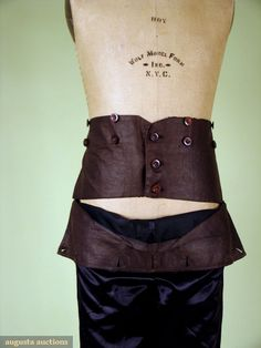 GENT'S BLACK SATIN BREECHES, EARLY 19th C