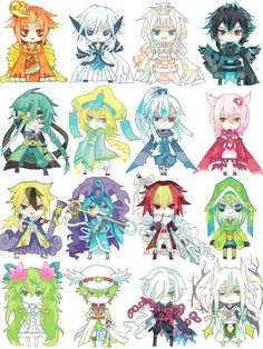 伝説っこ yesss cuteee except I don't know like half of them