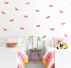 A fun & fruity watermelon themed room | Chango & Co