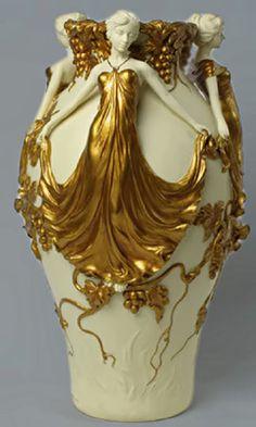 Figural Art Nouveau Vase – 1920's