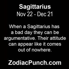 When a Sagittarius has....
