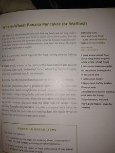 Whole wheat pancakes and waffles