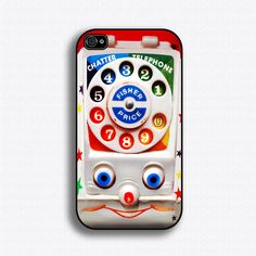 Vintage Toy Phone - iPhone 4 Case, iPhone 4s Case, iPhone 4 Hard Case, iPhone Case. $17.99, via Etsy.