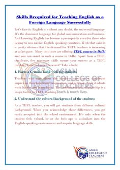 Diploma In Nursery Teacher Training Course NTT Training NTT - Global language course