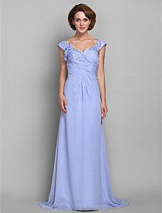Sheath/Column Straps Chiffon Mother of the Bride Dress (6188... – USD $ 179.99