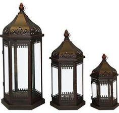 Kovové lucerny Orient 3ks Bookends, Gazebo, Outdoor Structures, Number 3, Home Decor, Madagascar, Kiosk, Decoration Home, Room Decor