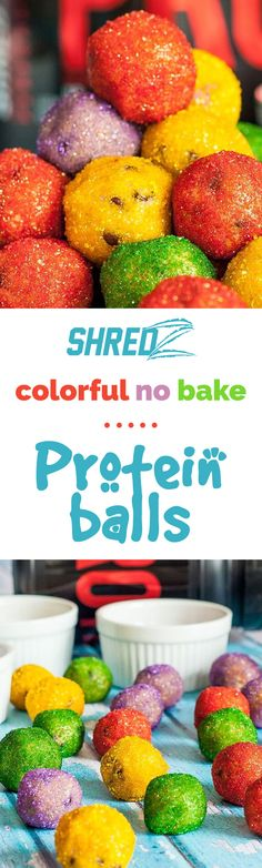 Double Tap & Re-pin if you'd like to try these Protein Balls! #dessert #protein #shredzkitchen