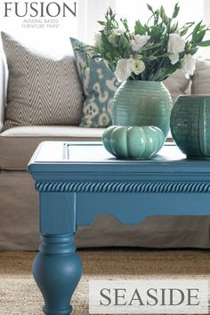 Seaside Fusion Mineral Paint...gorgeous color!