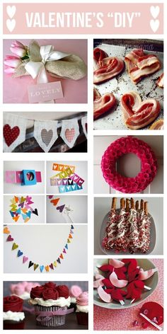 DIY Valentines Day projects. Link for each picture. Love the no sew burlap banner!