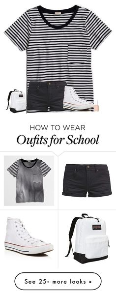 """comment your fav subject/class at school!"" by texasgirlfashion on Polyvore featuring J.Crew, TWINTIP, Converse, JanSport and Essie"