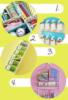 repurposed organization idea | Ideas for Your Home and Office - Recycled, Upcycled and Repurposed ...
